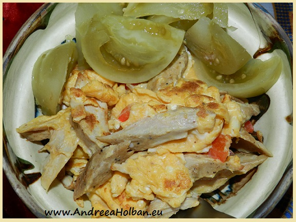 omleta taraneasca cu gogonele