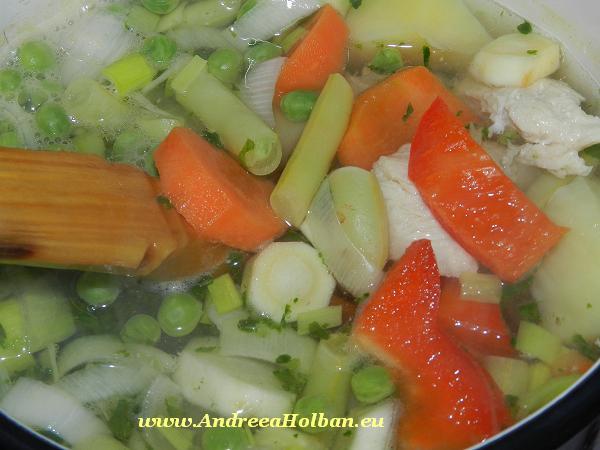 bors de pui si legume bebe diversificare 10 luni