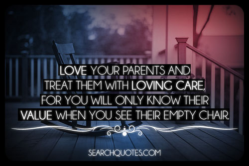iubeste-ti parintii si trateaza-i cu dragoste