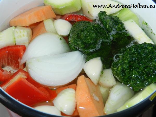 Bors de cartof dulce, dovlecel, spanac, ardei, ceapa si usturoi (dupa 10 luni)