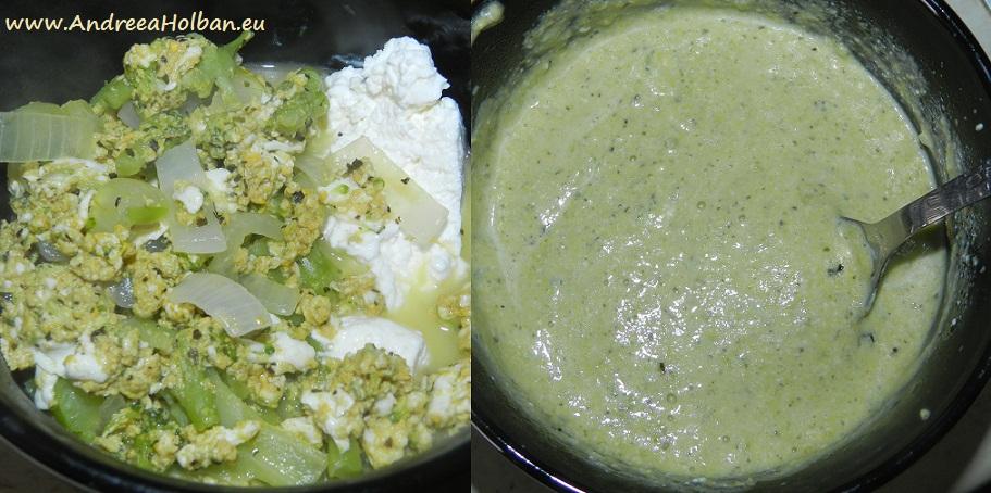 Piure de broccoli cu ceapa, galbenus de ou si branza (dupa 10 luni)