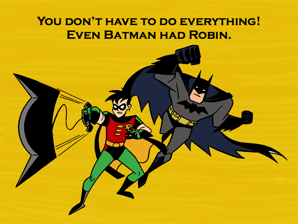 deleaga! pana si batman il are pe robin