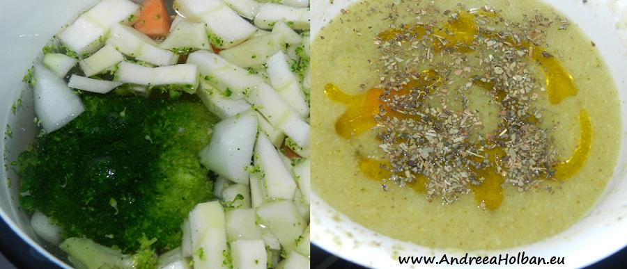 Bors de broccoli cu pastarnac, morcov si ceapa (dupa 10 luni)