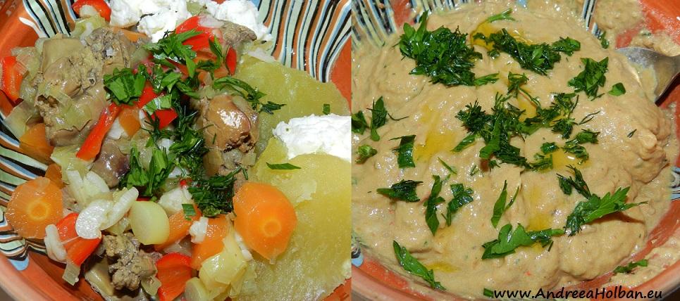 Pate de casa ficat, cartof, morcov, ardei, praz, usturoi, unt si verdeata (dupa 8 luni)