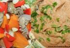 Pate de ficat cu usturoi, ardei capia si cartof dulce copt la cuptor (dupa 8 luni)