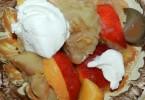 Piure de mar copt cu nectarina si branza (dupa 8 luni)
