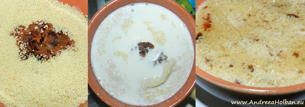 Couscous cu lapte, miere si curmale (dupa 12 luni)
