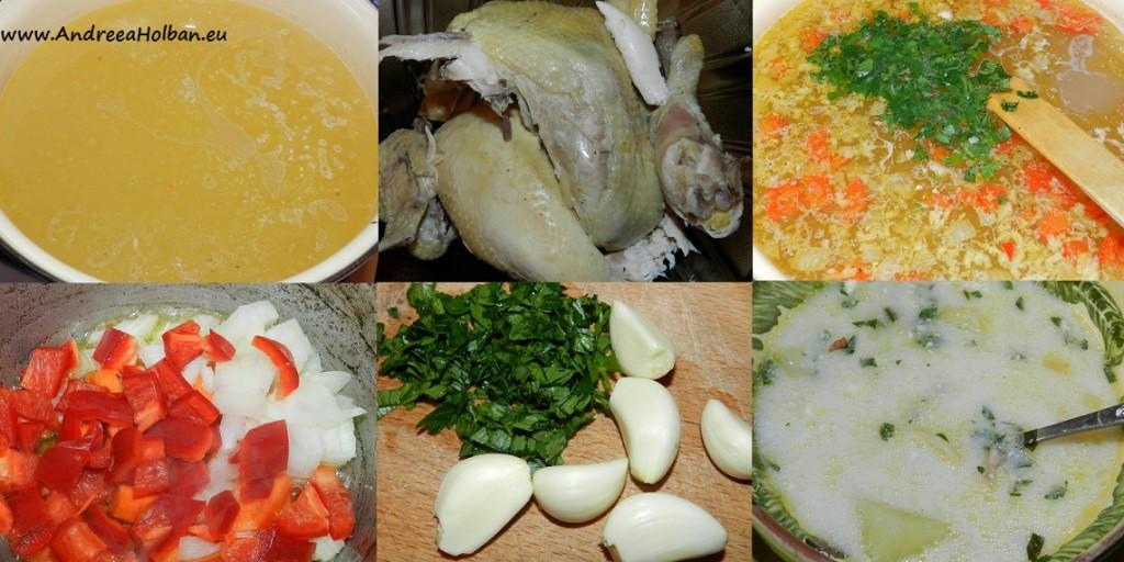 Supa de pui si legume cu usturoi (dupa 8 luni)