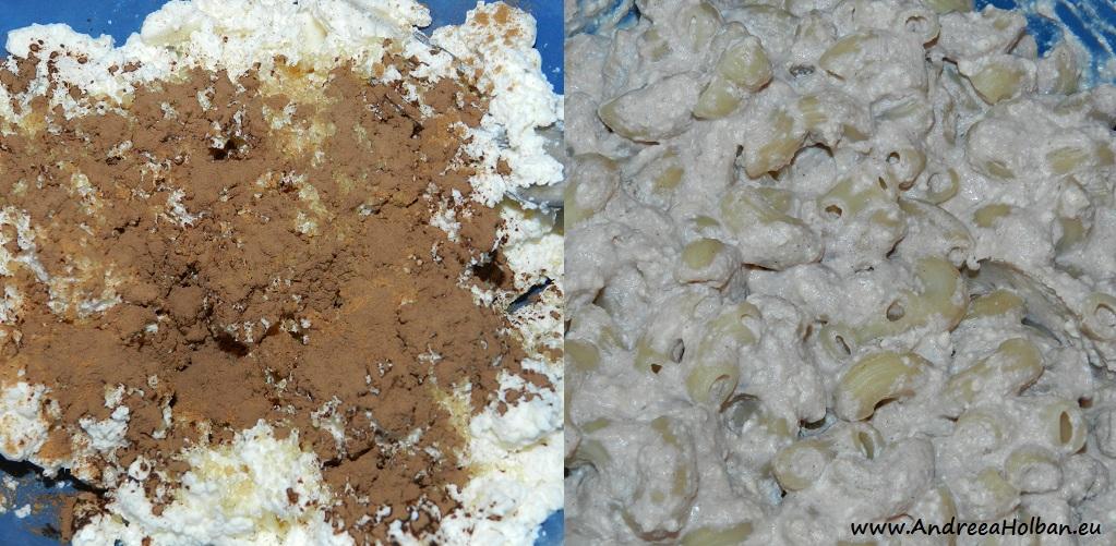 Paste cu branza, scortisoara, zahar brut si pudra de roscove (dupa 12 luni)