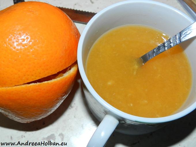 Suc de minola (cu pulpa) si miere de albine (dupa 12 luni)