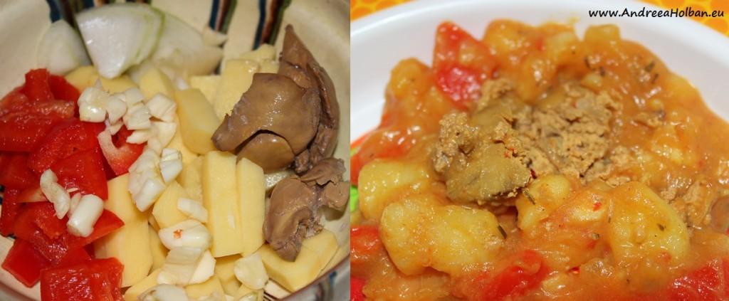 Tocanita de cartofi cu ficatei de pui (dupa 10 luni)