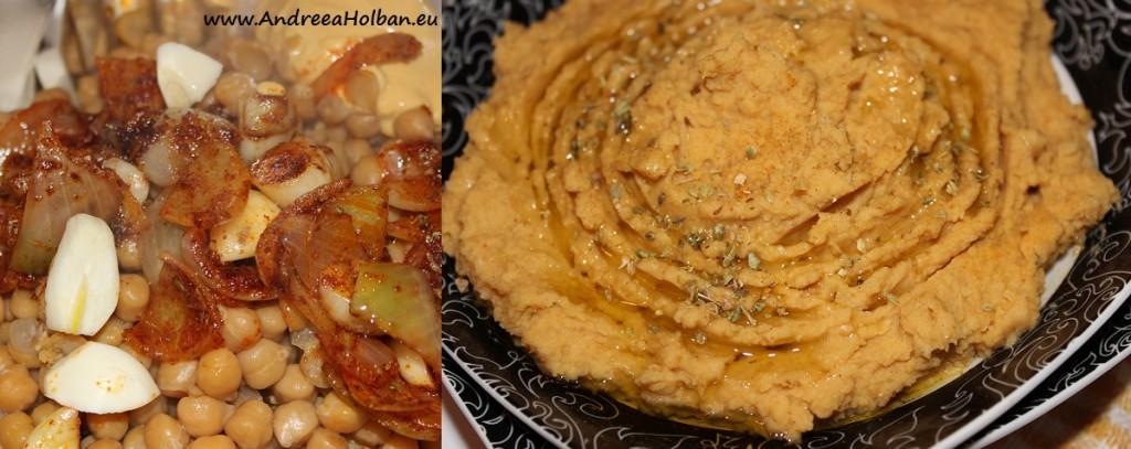 Pasta de naut cu ceapa, usturoi, boia de ardei afumata si mustar