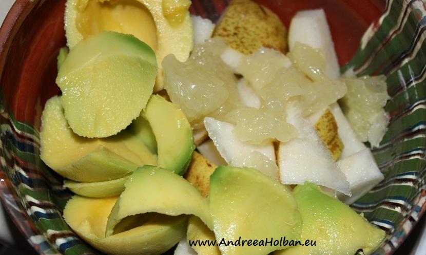 Piure de avocado, para si pomelo (dupa 12 luni)