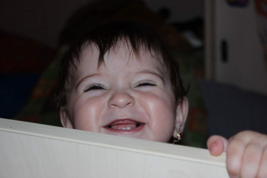 Copil fericit alaptat