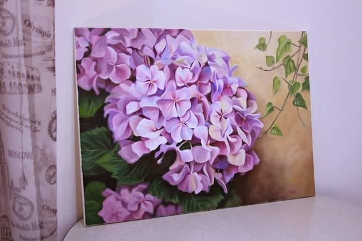 Hortensie irina voicu tablou tematic la comanda