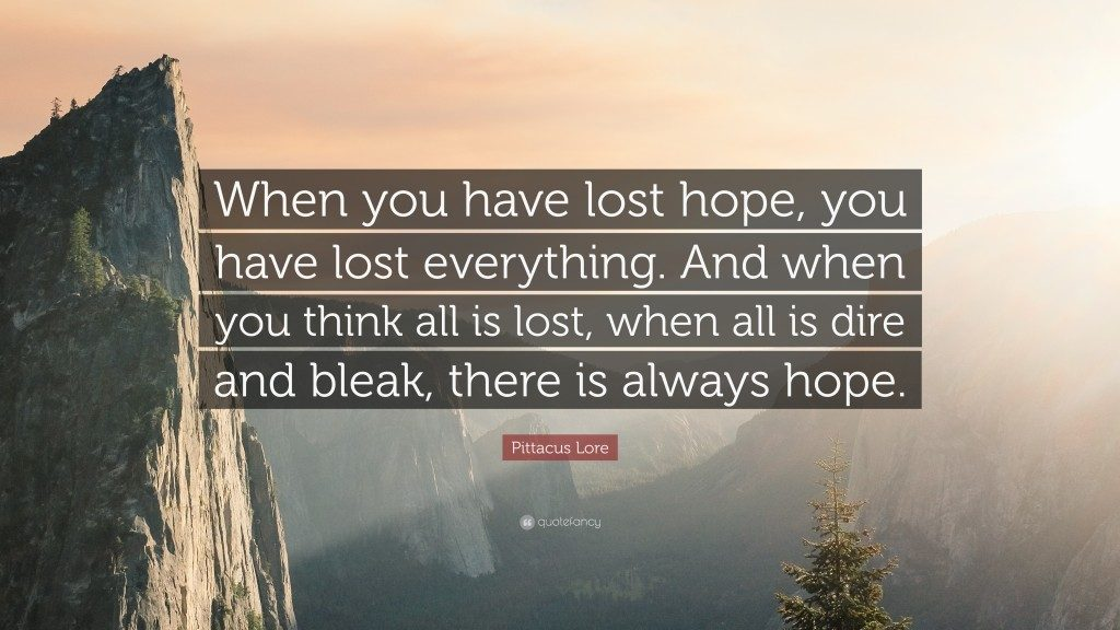 Cand pierzi speranta